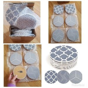 6 DIFFERENT PATTERNS ABSORBENT COASTERS